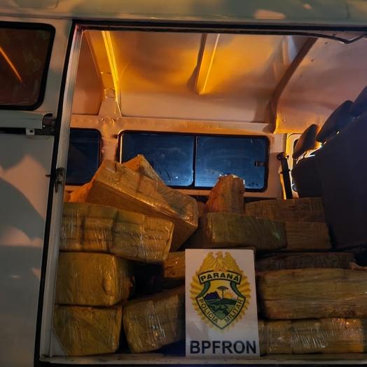 BPFron apreende veículo carregado com maconha em São José das Palmeiras