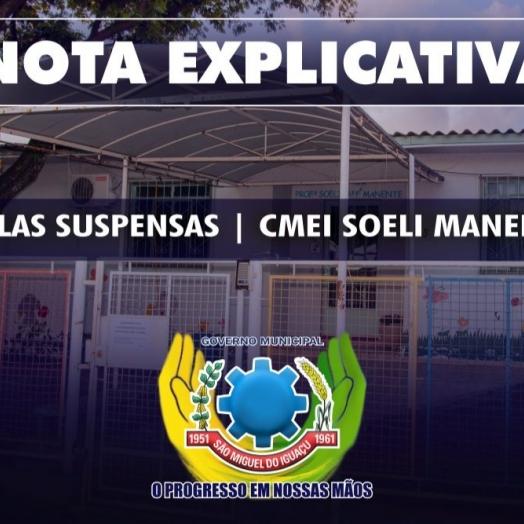 Com casos confirmados entre funcionários, Educação suspende atendimentos presenciais no CMEI Soeli Manenti em São Miguel do Iguaçu
