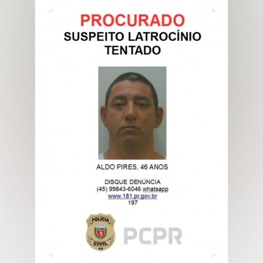 Delegacia de Homicídios procura por suspeito que atentou contra a vida de Guarda Municipal, em Foz
