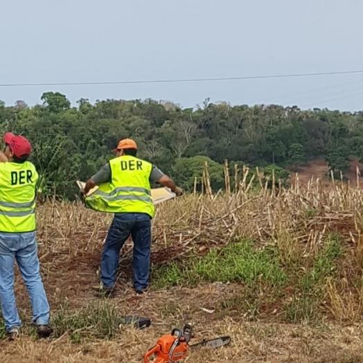 DER/PR inicia instalações das placas de sinalização de trânsito na rodovia PR-495, entre Medianeira e Serranópolis do Iguaçu