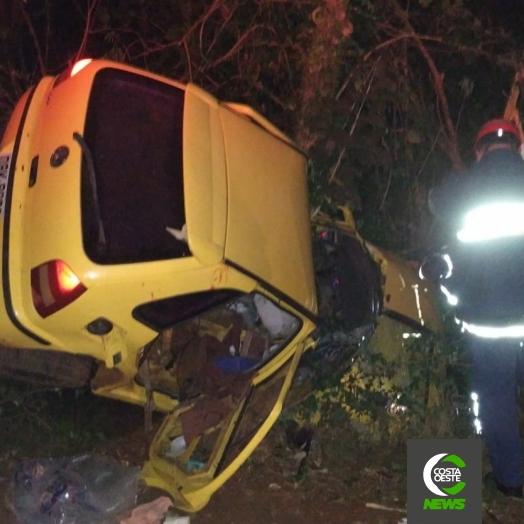 Grave acidente é registrado na Curva do Ogregon em Santa Helena