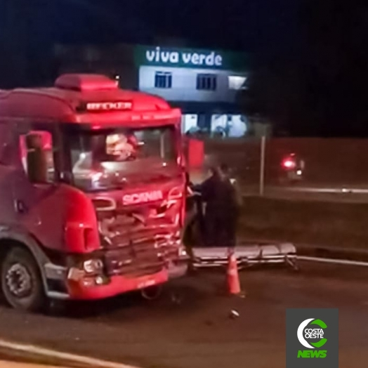 Grave acidente envolvendo um caminhão e dois veículos na BR 277 em Medianeira
