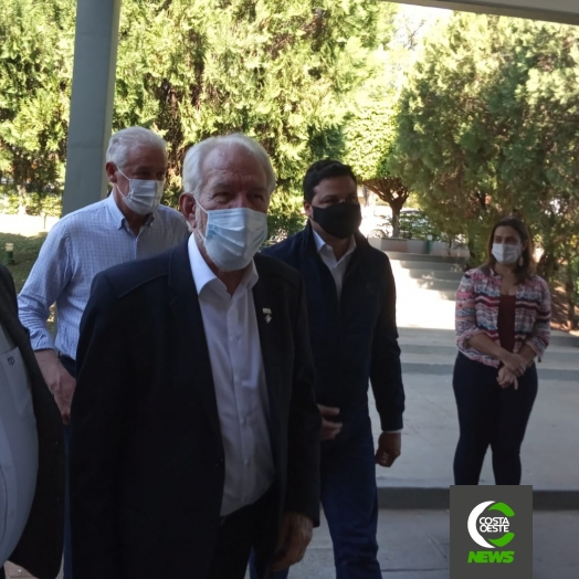 Governador em exercício, Darci Piana, e Hussein Bakri anunciam investimentos em Guaíra