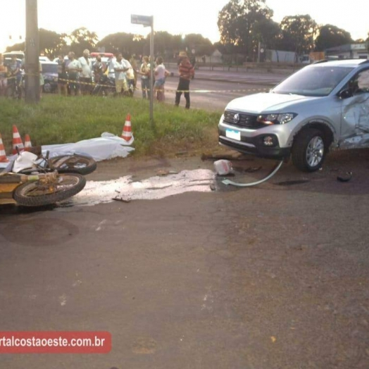 Identificado homem que morreu em acidente envolvendo carro e moto em Santa Terezinha de Itaipu