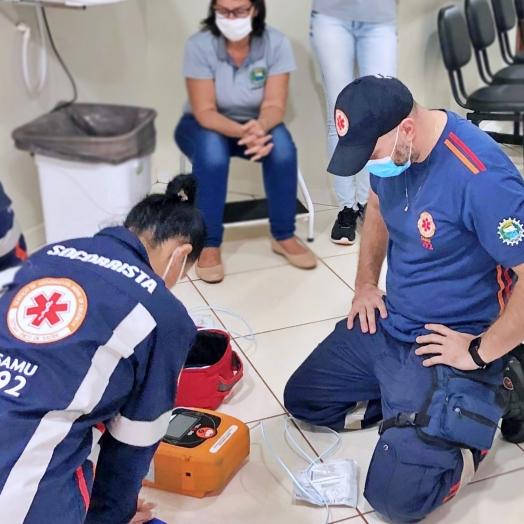 Itaipulândia: Equipe do SAMU presta treinamento na UBS Jacutinga
