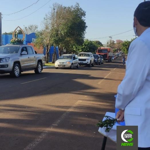 Mais de 2 mil veículos recebem benção em procissão de São Cristóvão em São Miguel do Iguaçu