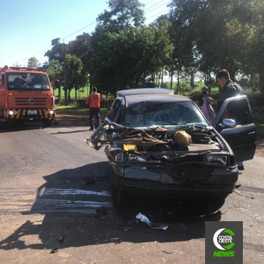 Manutenção na rodovia PR 488 causa acidente de trânsito em Santa Helena
