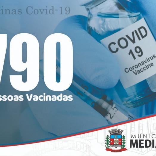 Medianeira tem mais de 790 pessoas vacinadas contra o coronavírus
