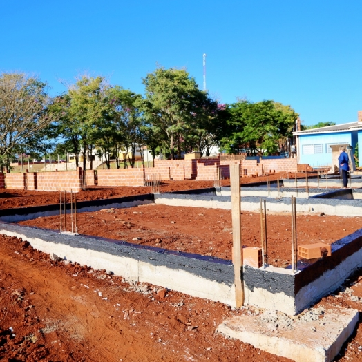 Obras de ampliação e reformas no CMEI Gente Inocente avançam em Itaipulândia
