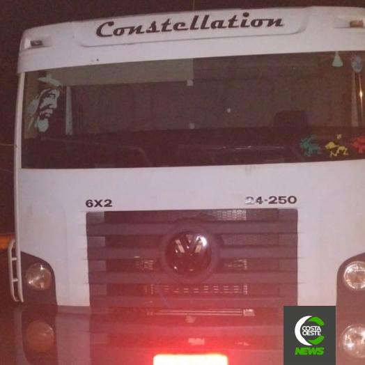 PM de São José das Palmeiras recupera caminhão furtado em São Paulo