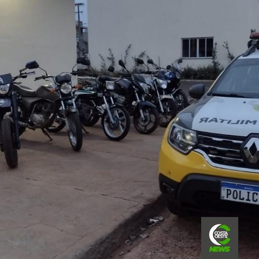 Polícia Militar apreende motocicletas durante Operação Cavalo de Aço em Medianeira