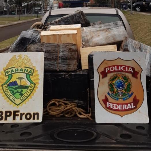 Policiais efetuam prisão de nove indivíduos com mercadorias em Foz do Iguaçu