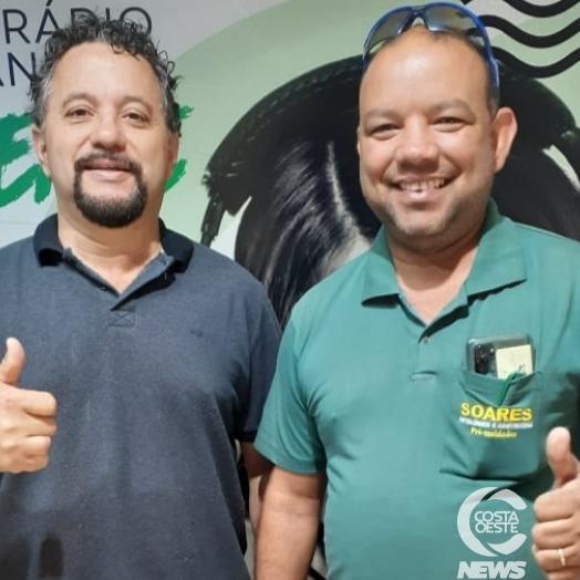 Programa Assim Canta a Costa Oeste recebe a visita de Valdirzinho Soares, da metalúrgica e construtora Soares