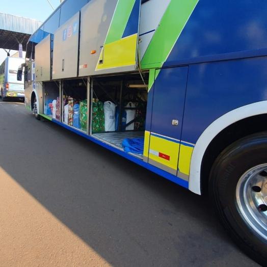Receita Federal retém três ônibus de turismo com mercadorias descaminhadas