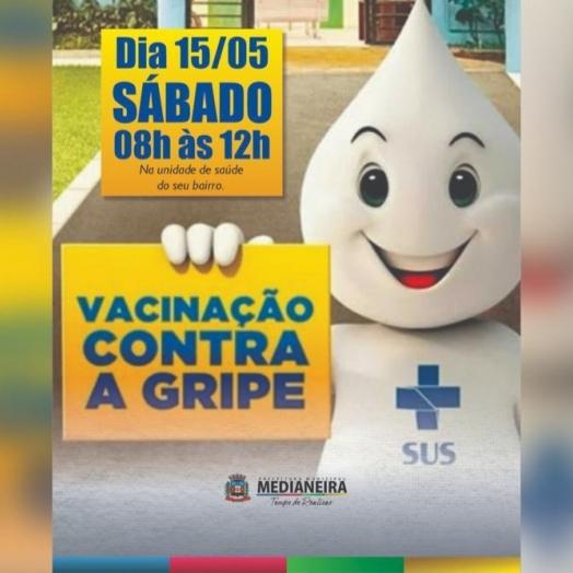 Sábado tem dia D de Vacinação Contra Gripe