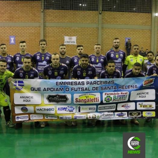 Santa Helena Futsal termina em 1º lugar da chave e se concentra para a próxima fase