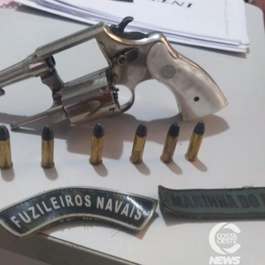 Santa Helena: Marinha apreende revólver e detém homem em Vila Celeste