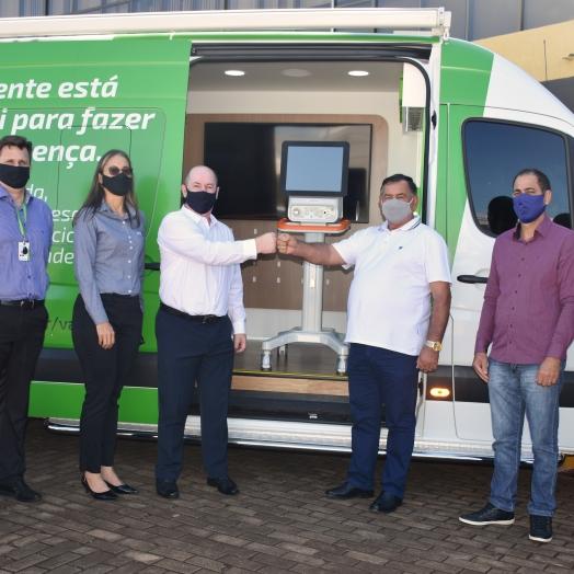 Sicredi Vanguarda doa respirador para o Governo Municipal de São Miguel do Iguaçu