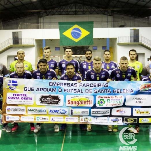 Virada espetacular garante vitória do Santa Helena Futsal sobre o Guaíra pela Taça Bronze